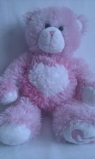 Adorable Rare Big 'Blow a Kiss' Love & Kisses Build-a-Bear
